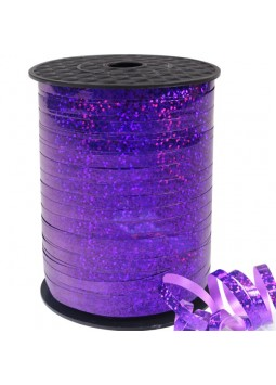 Purple Holographic Curling Balloon Ribbon - 228m