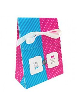 Bow or Bow Tie Party Bags - Paper Favour Bags (Pack of 12)
