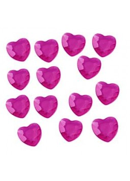 Cerise Pink Hearts Table Diamantes (28g per bag)