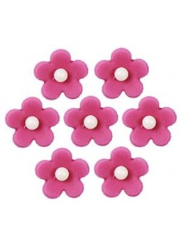 Fuchsia Flower Sugar Toppers - Cake Decorations (7)