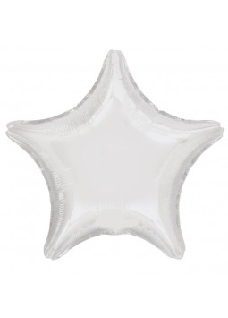 "White Star Balloon - 19"" Foil"