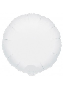 White Round Balloon - 18'' Foil