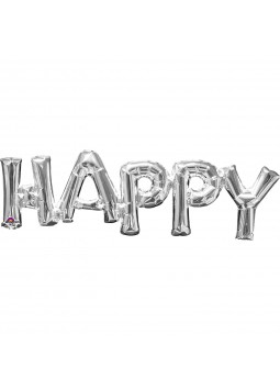 "Phrase "" HAPPY"" Silver"