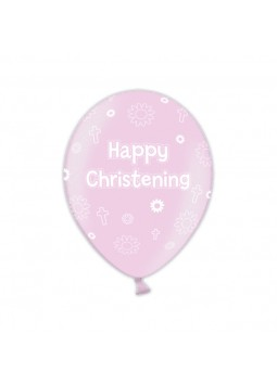 BALLOON 27.5cm:Christening pretty- PINK
